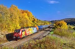 "MRCE/SBB Cargo International 189 206 ""Van Gogh"" Treuchtlingen (tobias.unsin) Tags: railway rail railroad train zug güterzug bahn bavaria autumn herbst kessel bunt eisenbahn"