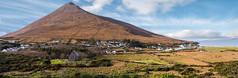 Slievemore Panoramic (mickreynolds) Tags: panorama dugort achill island mountain slievemore st thomas churchofireland clouds sky