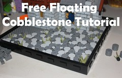 Free Floating Cobblestone Tutorial (-soccerkid6) Tags: lego cobblestone medieval street technique design tutorial guide process free floating attached