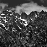 Castle Rock and Other Peaks of Bonanza Massif (Black & White, North Cascades National Park Service Complex) thumbnail
