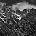 Castle Rock and Other Peaks of Bonanza Massif (Black & White, North Cascades National Park Service Complex)