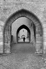 (cherco) Tags: bridge puente france cahors valentré man arquitectura alone architecture aloner arch arco adoquinado repetition repeticion lonely light luz composition composicion canon city ciudad markiii blackandwhite blancoynegro black solitario solitary silhouette silueta sombra street tunnel across medieval stone