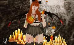 #194 -  Darkness of Lolita. (rhavena.rasmuson) Tags: moonelixir cute gacha maitreya follow4follow follow4followback fav4fav fantasy hallowen wings kawaii lolita pupkin darkness sweet dark catwa post auevent gothic gothiclolita postnew postflickr