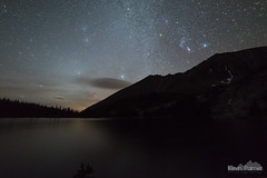 Orion and Crazy Peak (kevin-palmer) Tags: crazymountains crazies custergallatinnationalforest montana sept september fall autumn nikond750 samyang rokinon14mmf28 bluelake water dark night sky stars starrty space astronomy astrophotography orion lenticular cloud backpac backpacking early morning crazypeak