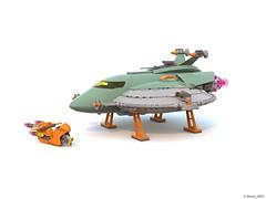 07 RETRO SPACE HERO'S SPACESHIP AND SPACEBIKE (Nuno_0937) Tags: lego ideas classic space spaceship ship moc retro hero minifigure