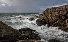 A lot of weather (Anders_3) Tags: norge norway rogaland sola vigdelneset vigdel hellestø ocean sea waves weather storm northsea nikon motion ship ferry knud 7s64718