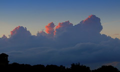 Another Sunset (austexican718) Tags: centraltexas hillcountry sky cloud skyline sunset treeline blue pink autumn weather canon eos70d ef70300mm456isusm