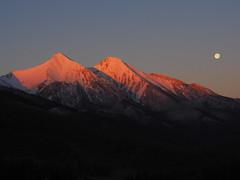Belianske Tatra in snow dress and sun bath (Michal Gazovic) Tags: mountains sunrise snow peaks slovakia hightatra beliansketatra morning moon