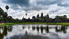 180726-075 Angkor Wat (clamato39) Tags: angkor angkorwat cambodge cambodia voyage trip asia asie religion religieux reflection reflet miroir ciel sky clouds nuages eau water temple historique historic history patrimoine landmark