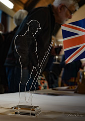 365-2018-271 - Soldier and Spectator at Book Launch (adriandwalmsley) Tags: perspexsoldier twyfordparishhall valianthearts
