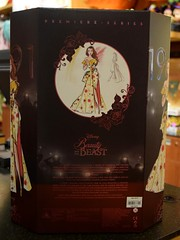 2018 Disney Designer Collection Premiere Series - Merchandise In Store Release - 2018-09-28 - Belle Doll - Closed Box - Rear View (drj1828) Tags: disneystore disneydesignercollection premiereseries promo storedisplay 2018 merchandise colourpop doll limitededition belle 12inch beautyandthebeast