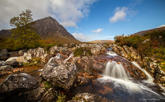 Buachaille Etive (Leigh-Ann Mitchell Photography) Tags: buachaille etive waterfall glencoe scotland nature landscape mountains sky clouds water long exposure