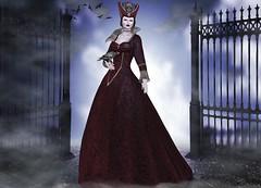 Mila Blauvelt (Mila Blauvelt) Tags: milablauvelt blogger model avatar virtual secondlife shopping sl style halloween gown meshavatar mesh avatarinseconlife bodymesh designer ghee swank