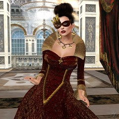 Lady Tremaine (Algezares (III)) Tags: mask glitterposes glitter rose theatre secondlife swank gown maitreya mesh makeup lelutka
