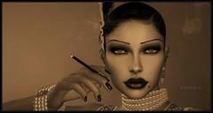Nostalgika (Moxxie Kalinakova) Tags: 1920s retro vintage smoking brunette elegant beauty elegance class classy style stylish moxxie kalinakova vamp flapper