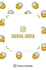 example of nametag for Instagram (Sasha India) Tags: instagram nametag instatag tag name sashaindia дизайн qrcode design 設計 디자인 التصميم σχέδιο डिज़ाइन வடிவமைப்பு desenhar projekt עיצוב desain face