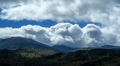 Northern Presidential Range, New Hampshire (jtr27) Tags: dscf2261xlc jtr27 fuji fujifilm xt20 xtrans vivitar komine 55mm f28 macro manualfocus presidential range newhampshire nh cumulus clouds mountadams mountmadison autumn foliage newengland landscape