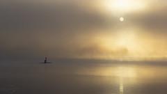 Sunrise | Lake Baldeneysee | Essen | Germany (*Photofreaks*) Tags: canoe kanu kanuten boot boat foggy misty cloudy nebelig dunstig autumn fall herbst baldeneysee lake essen ruhr ruhrgebiet deutschland germany river adengs wwwphotofreakseu water sports wassersport minimalism minimalismus sunrise sonnenaufgang dawn morgendämmerung moody stimmungsvoll wallpaper elitegalleryao bestcapturesaoi