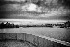 Stockholm (anderswetterstam) Tags: city fall harbor seasons stockholm blackandwhite monochrome dramatic ships marina sky clouds wall
