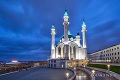 Каза́нь (Rolandito.) Tags: каза́нь europe europa russia russie russland russian federation kazan tatarstan mosque kreml kremlin blue hor long exposure twilight light lights abend eveninh clouds