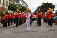 Breaker Band (Kristen Fletcher Photography) Tags: butterflyparade pacificgrove california parade marchingband drummajor band music