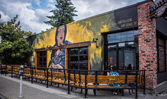 2018 - Vancouver - Patio Mural (Ted's photos - For Me & You) Tags: 2018 bc britishcolumbia canada cropped nikon nikond750 nikonfx tedmcgrath tedsphotos vancouver vancouverbc vancouvercity vignetting camscale camscalemural lorettalizzo lorettalizzomural seating seated parkingmeter reflection cans2s