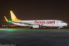 Pegasus Airlines TC-CRB HAJ at Night (U. Heinze) Tags: aircraft airlines airways airplane haj hannoverlangenhagenairporthaj planespotting plane nikon night nightshot eddv flugzeug