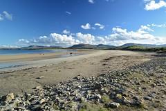 Tide's out at Mullaghmore. (carolinejohnston2) Tags: beach sea coast cosligo ireland sand rocks mountains landscape outdoors autumn sunshine dunes wildatlanticway