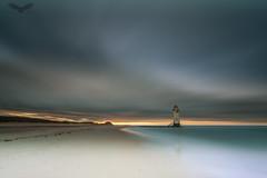 Talacre beach and lighthouse (Andy Davis Photography) Tags: talacre lighthouse beach autumn clouds longexposure leefilters canon sea windfarm sunset wwwandydavisphotographycom
