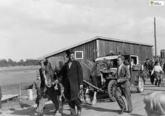 tm_5604 (Tidaholms Museum) Tags: svartvit positiv gruppfoto människor karneval häst grusväg 1937 1930talet