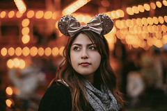 Disneyland Bokeh (2) (Jonathan Villanueva) Tags: a7 ii mitakon 50mm f095 095 bokeh bird disney mickey mouse ears disneyland girl carousel