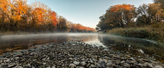 autumnmorning (drummerwinger) Tags: rot fog nebel dunst isar canon80d sigma water kies