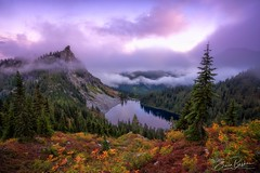 Oh Valhalla! (Erwin Buske Photography) Tags: lakevalhalla autumncolor clouds fog pacificcresttrail fall mood sunset afterglow mountainash blueberries
