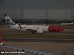 Norwegian Air International EI-FYF London Gatwick, UK (Aircraft Aviation in Europe) Tags: norwegian air international boeing 737 max london gatwick airport