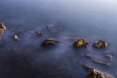 Night Rock Scene (panos_adgr) Tags: nikon d7200 long exposure rocks stones sea water motion blur drapetsona lipasmata attica greece tripod low light