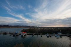 Lake Havasu (M a u r i c e) Tags: usa unitesstates lakehavasu california canon efs1022mm wideangle ultrawidezoom evening sky boat harbour harbor sunset dusk landscape nature water