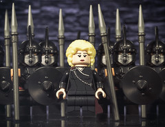 Daenerys Targaryen & The Unsullied (Jezbags) Tags: daenerys targaryen unsullied gameofthrones daenerystargaryen dragon army canon canon80d 80d 100mm closeup upclose macro macrophotography macrodreams macrolego lego legos toy toys spear queenofdragons