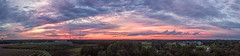 Evening Pano - 092818-191036 (Glenn Anderson.) Tags: dusk sunset clouds cloudsstormssunrisessunsets sky tree forest landscape mavicpro drone celltowers watertower solar farm panograph stitching evening twilight