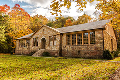 Flat Gap High School (Back Road Photography (Kevin W. Jerrell)) Tags: oldbuildings oldschools historic backroadphotography autumn nikond7200 sigmalens pound wisecounty virginia colorful nationalregisterofhistoricplaces fallcolor