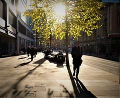 Cross Street, Manchester (LozHudson) Tags: manchester fujifimxt10 xt10 fuji 18mm street backlit shadows lightshadow