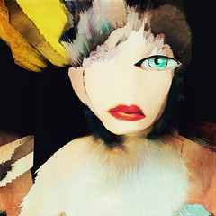 Let's burn our masks at midnight (lorenka campos) Tags: conceptual mobileart women modernart portrait art artdigital