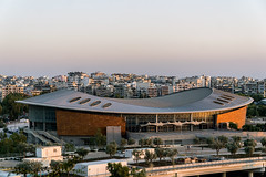 Faliro Sports Pavilion Arena (Maciej Dusiciel) Tags: architecture architectural city urban building street athens greece kallithea travel europe world sony alpha stadium modern contemporary paleo faliro