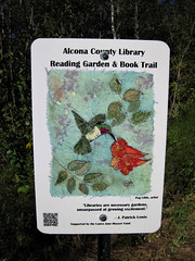 Book Trail 2 (Bruces 51) Tags: alcona county library reading garden book trail harrisville michigan