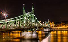 Liberty bridge by night (Vagelis Pikoulas) Tags: night nightscape city cityscape landscape urban bridge budapest hungary canon 6d tokina 1628mm river danube europe travel