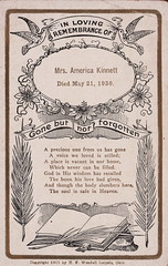 Mrs. America Kinnett (Namey McNamerson) Tags: memorial card mourning funeral h f wendell leipsic ohio