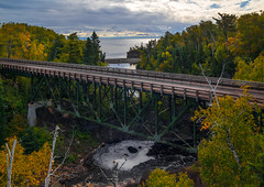 TETTEGOUCHE STATE PARK (Paul Domsten) Tags: tettegouchestatepark minnesota statepark lakesuperior autumn fall colors bridge pentax river baptismriver camping hiking water lake