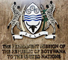 The Permanent Mission of The Republic of Botswana to The United Nations (Alexander H.M. Cascone [insta @cascones]) Tags: usa nyc new york city manhattan the permanent mission republic botswana united nations midtown big apple zebras plaque sign signage diplomats embassy consulate shield tusk text government un