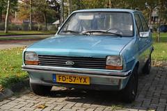 1979 Ford Fiesta 1100 L (NielsdeWit) Tags: nielsdewit car vehicle fd57yx ford fiesta 1100 l tiel blue