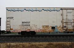 Worm/Debt (quiet-silence) Tags: graffiti graff freight fr8 train railroad railcar art worms worm debt 4dc a2m bnsf icicle reefer bnsf793569