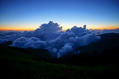 1071006合歡山銀河 (陽光把拔) Tags: 合歡山 銀河 主峰 陽光把拔 夕陽 雲海